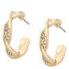 Snö Of Sweden Leonie Small Oval Earring, Gold/Clear