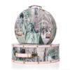 Schmuck- und Kosmetik-Taschen von Shelas im New-York-Stil – zwei Taschen in verschiedenen Größen