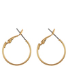 Snö Of Sweden Mystique Small Ring Earring, Plain Gold (20 mm)