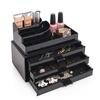 Cosmetic Organizer mit drei Schubladen, Schwarz