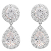 Snö Of Sweden Three Pendant Earring, Silver/Clear