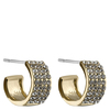 Snö of Sweden Carrie Small Earrings, Gold/Clear