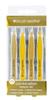 Brush Works HD Combination Tweezer Set, Gold
