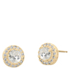 Snö Of Sweden Lissy Small Stone Earring, Gold/Clear