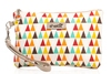 Shelas Clutch Purse, Multi-Coloured Pattern