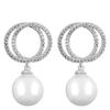 Snö of Sweden Gracie Pendant Earrings, Silver/White