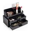 Cosmetic Organizer mit zwei Schubladen, schwarz