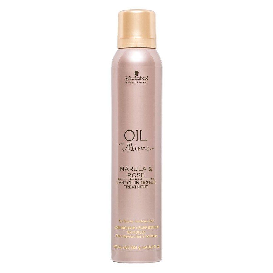 Schwarzkopf Oil Ultime Marula & Rose Light Oil-In-Mousse Treatment (200 ml)