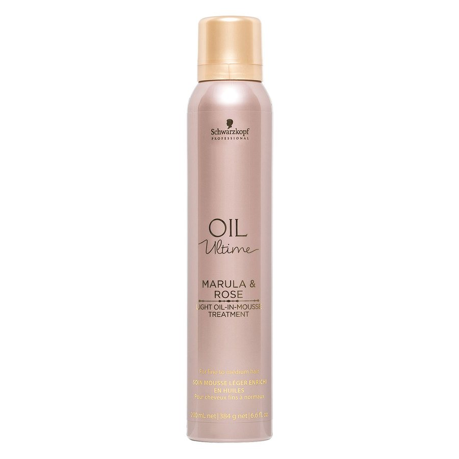 Schwarzkopf Oil Ultime Marula & Rose Light Oil-In-Mousse Treatment (200 ml)