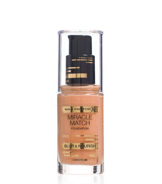 Max Factor Miracle Match Foundation, Caramel 085