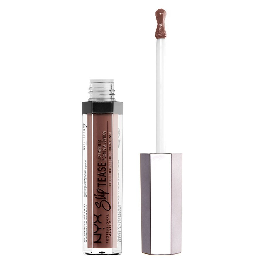 NYX Professional Makeup Slip Tease Lip Lacquer, Nude (3 ml)