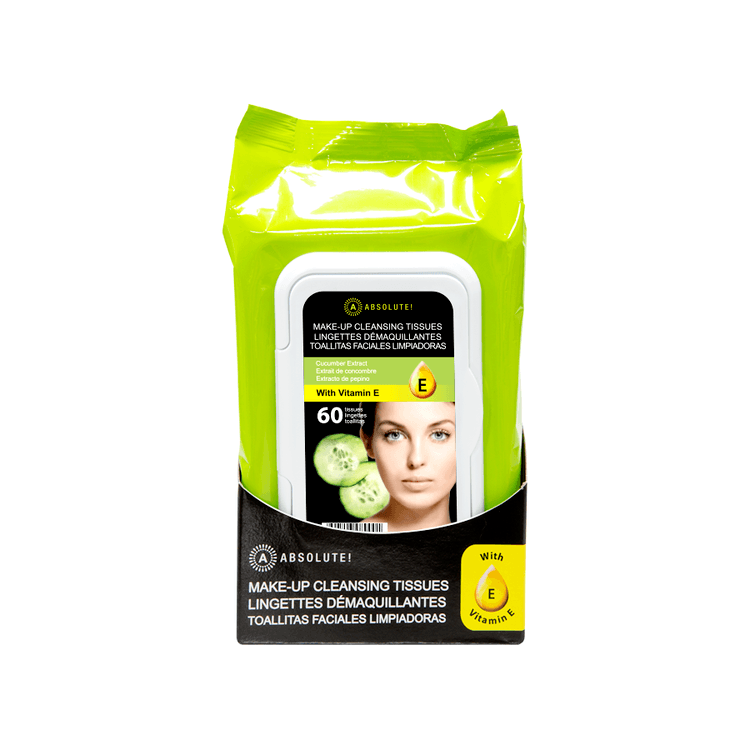 Absolute New York Make-up Cleansing Tissues Cucumber Extract (60 pcs)