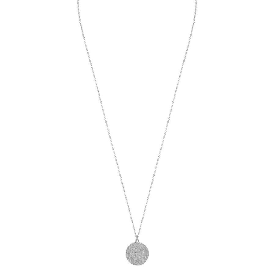 SNÖ of Sweden Penny Coin Pendant Neck Plain Silver 60cm