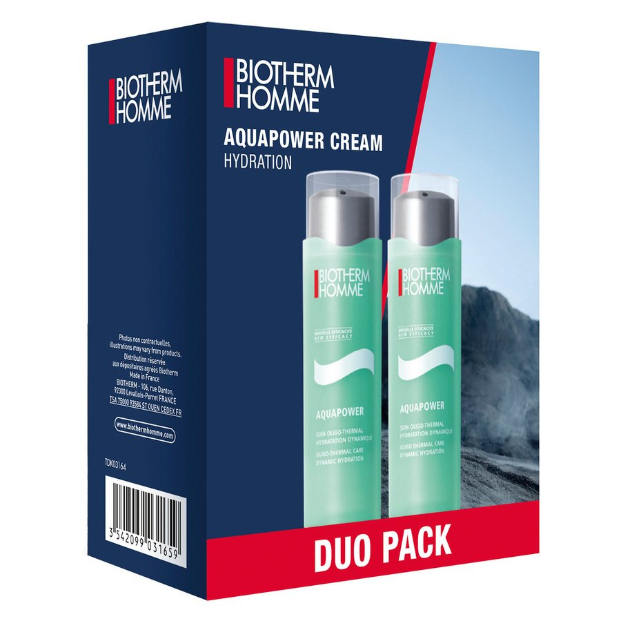 Biotherm Homme Aquapower Creme Hydration Duo Set