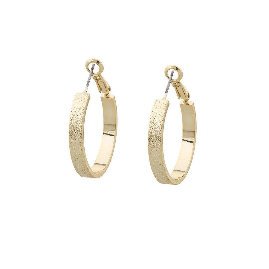 Snö of Sweden Lynx Small Ring Earring, Plain Gold