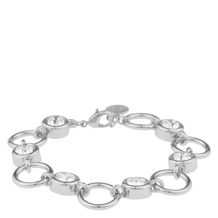 Snö Of Sweden Keira Bracelet, Silver/Clear (16-17 cm)