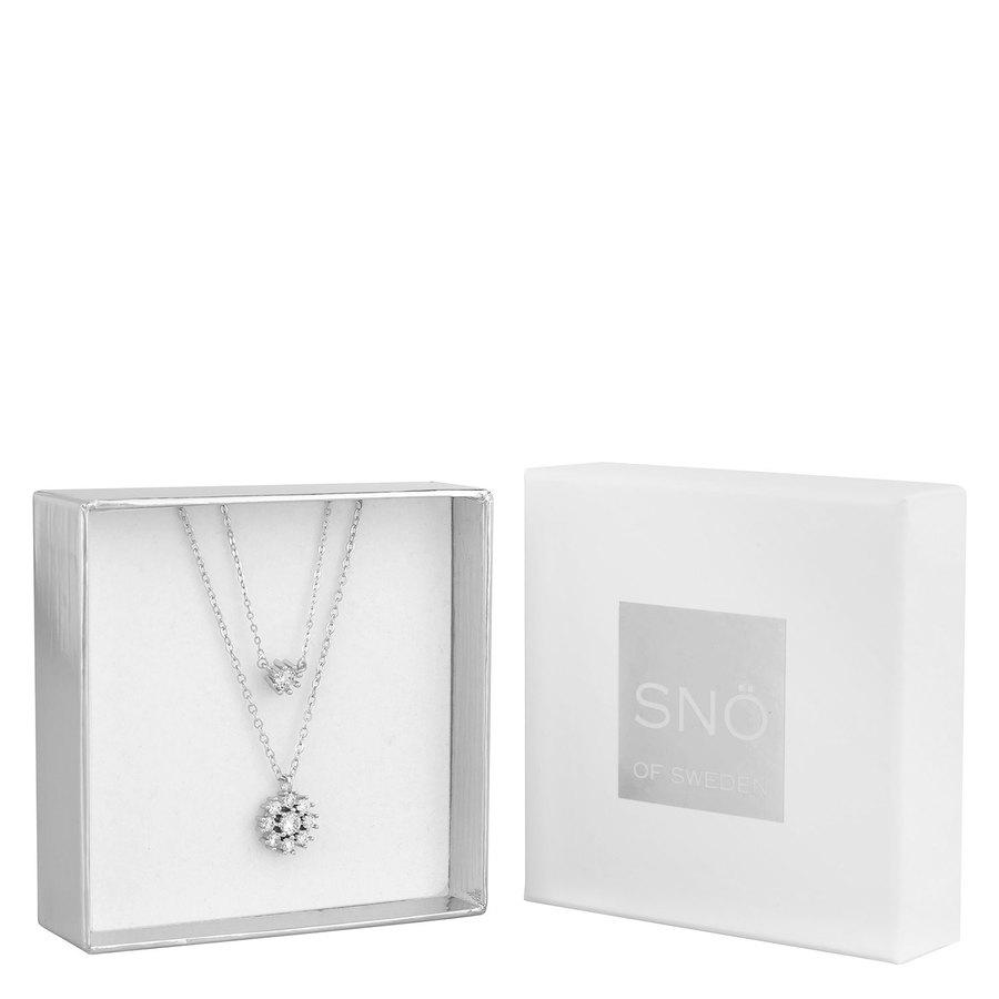 Snö of Sweden Crystal Vintage Neck Set 1, Silver / Clear