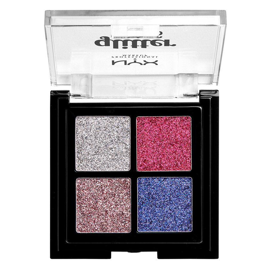 NYX Professional Makeup Glitter Goals Cream Quad Palette, Love On Top