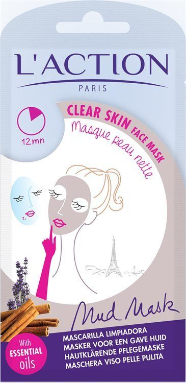 L'Action Paris Clear Skin Face Mask Gesichtsmaske (18 g)