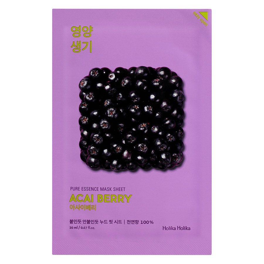 Holika Holika Pure Essence Mask Sheet, Acai Berry (20 ml)