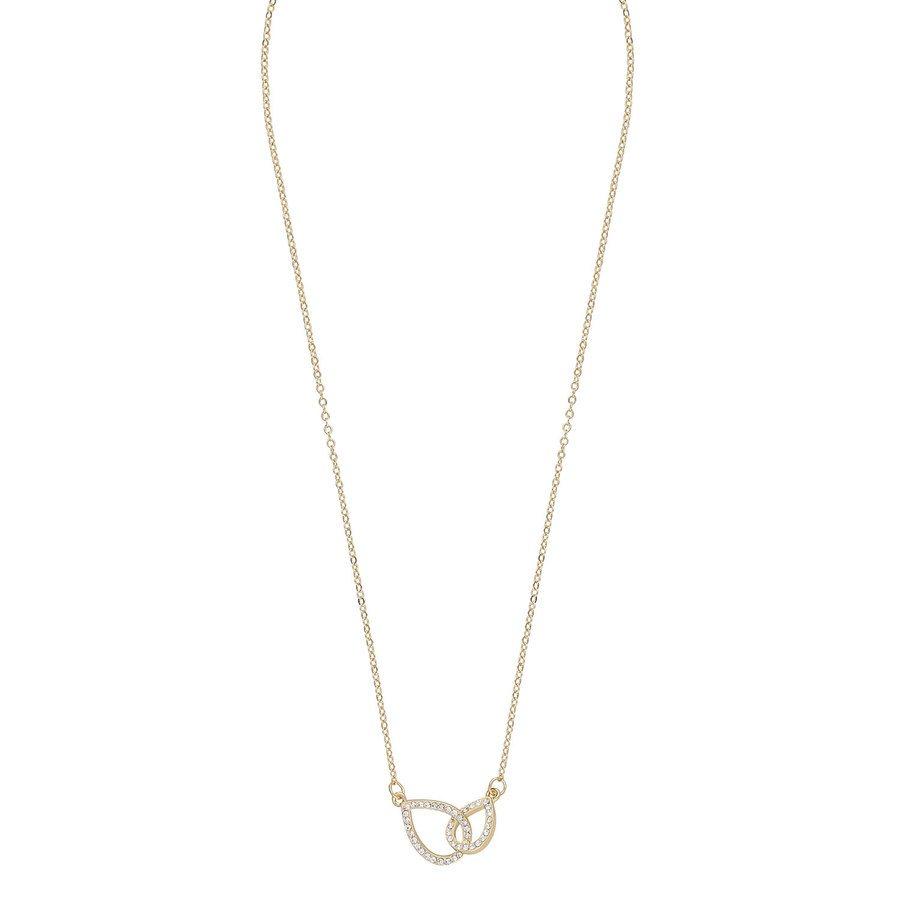 Snö Of Sweden Ciel Chain Neck, Gold/Clear (42 cm)