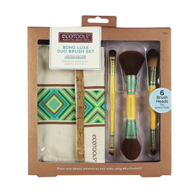 Eco Tools Boho Luxe Duo Brush Set Limited Edition - Vierteiliges Pinselset