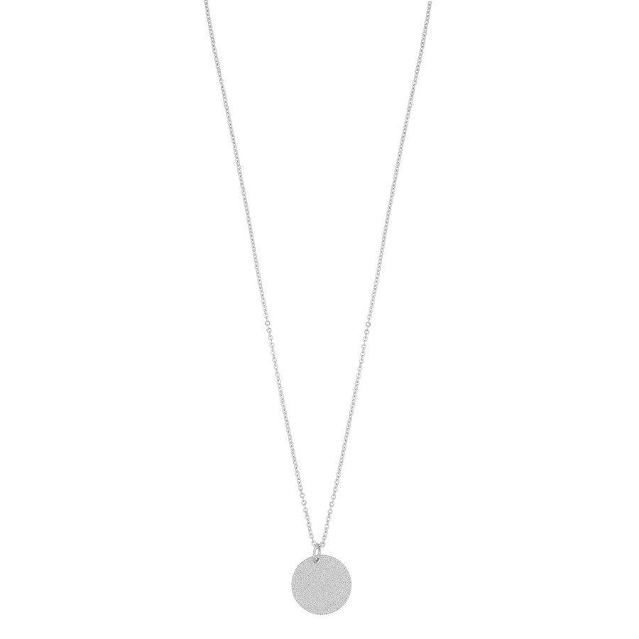 Snö of Sweden Lynx Small Pendant Necklace, Plain Silver (42 cm)