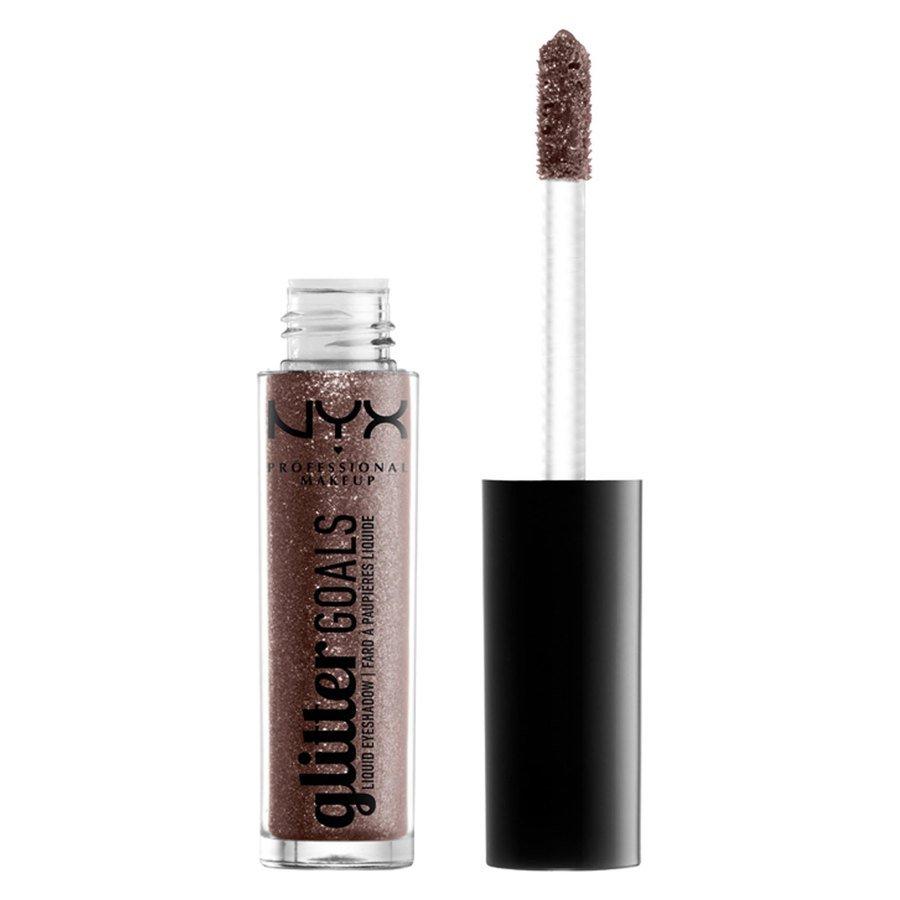 NYX Professional Makeup Glitter Goals Liquid Eyeshadow, Shade 3 Brown (3,5 g)