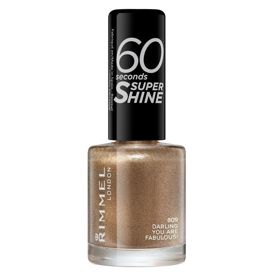 Rimmel London 60 Seconds Super Shine Nail Polish, # 809 Darling (8 ml)