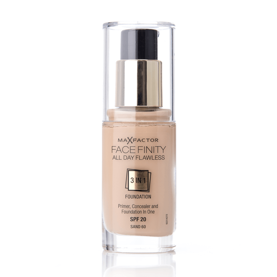 Max Factor Facefinity 3 In 1 Foundation (30 ml), 60 Sand