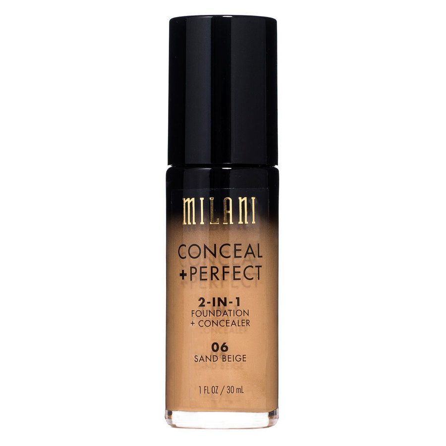 Milani Conceal & Perfect 2-In-1 Foundation + Concealer, Sandy Beige (30 ml)