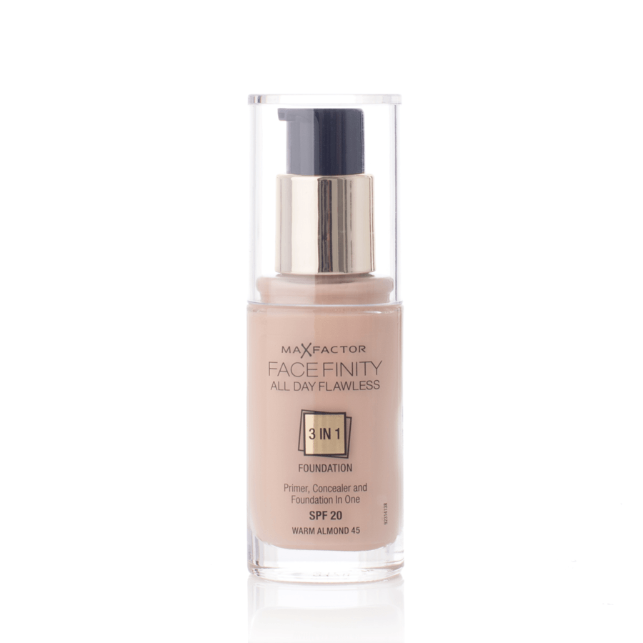Max Factor Facefinity 3 In 1 Foundation, 45 Warm Almond (30 ml)