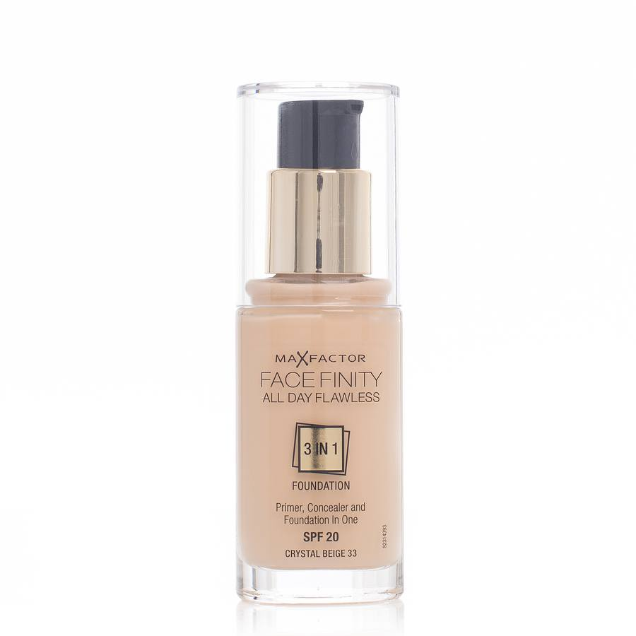 Max Factor Facefinity 3 In 1 Foundation (30 ml), 33 Crystal Beige