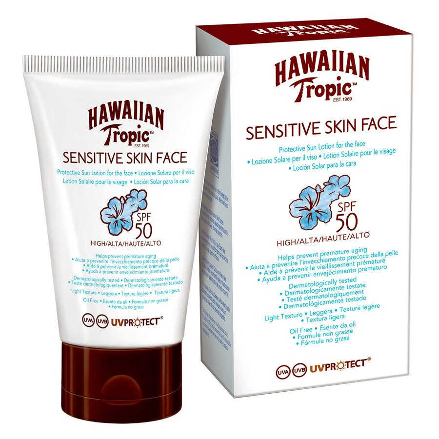 Hawaiian Tropic Sensitive Face Protective Lotion SPF50 (60 ml)