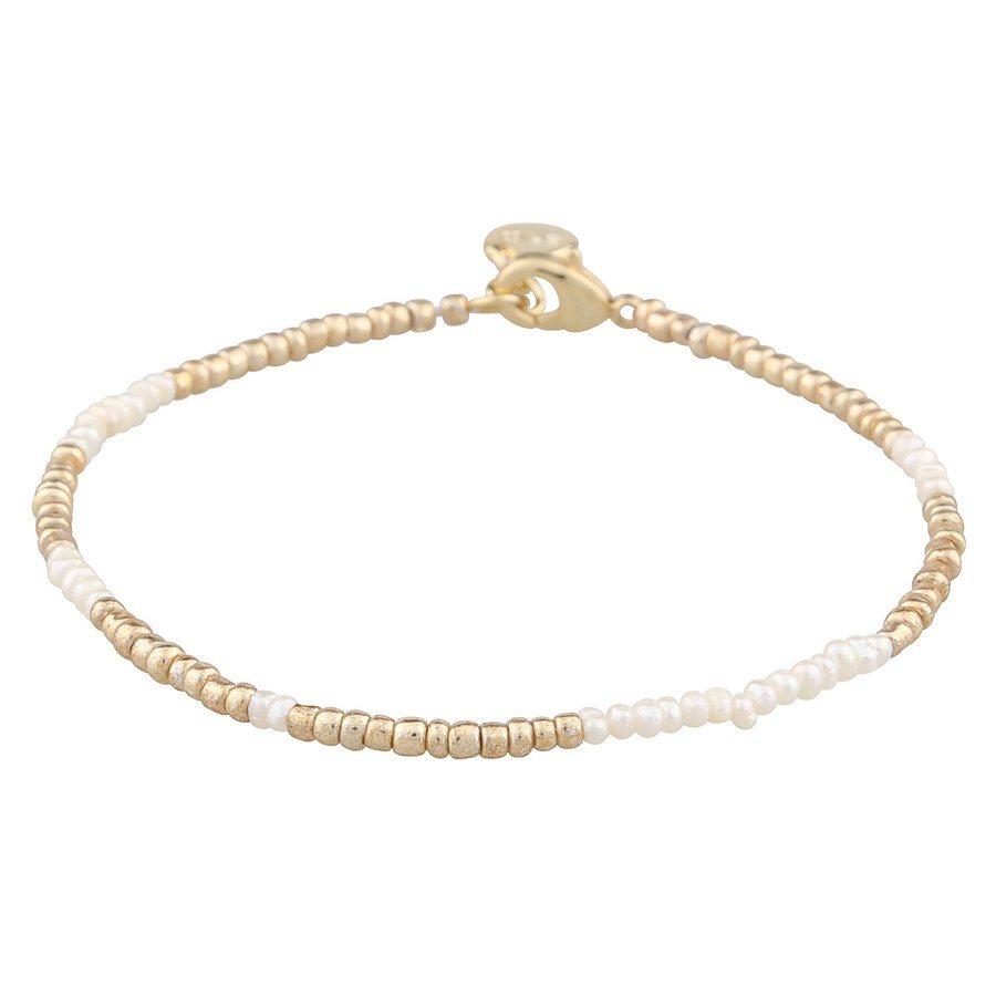 SNÖ of Sweden Penny Small Brace Gold/White