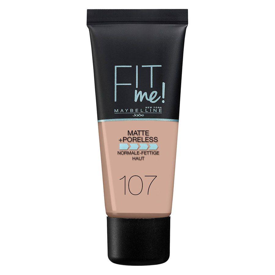 Maybelline Fit Me Matte + Poreless Foundation, Rose Beige #107 30ml