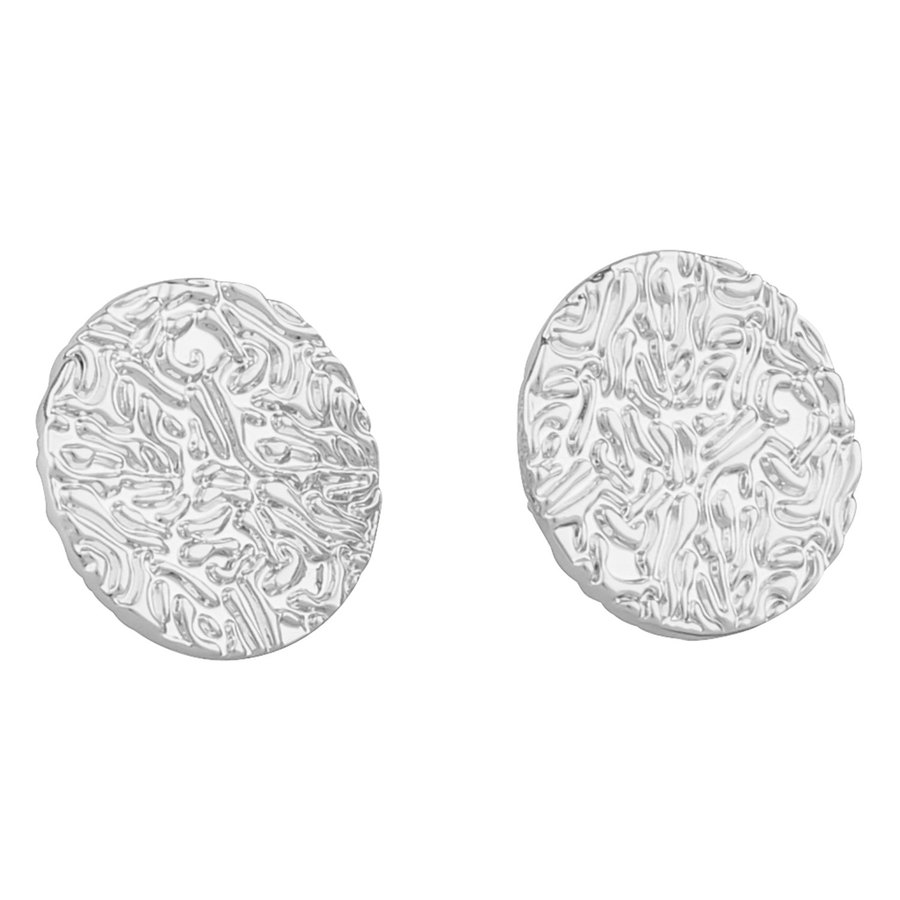 SNÖ of Sweden Penny Small Coin Ear Plain Silver