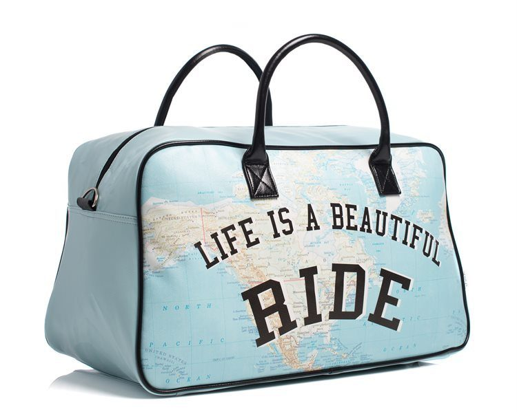 "Shelas Reisetasche ""Life Is A Beautiful Ride"""