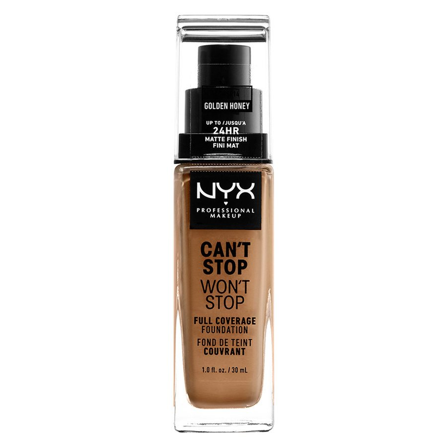 NYX Can't Stop Won't Stop Full Coverage Foundation 30ml, Golden Honey