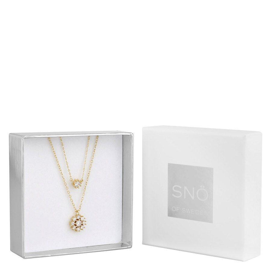 Snö of Sweden Crystal Vintage Neck Set 1, Gold / Clear