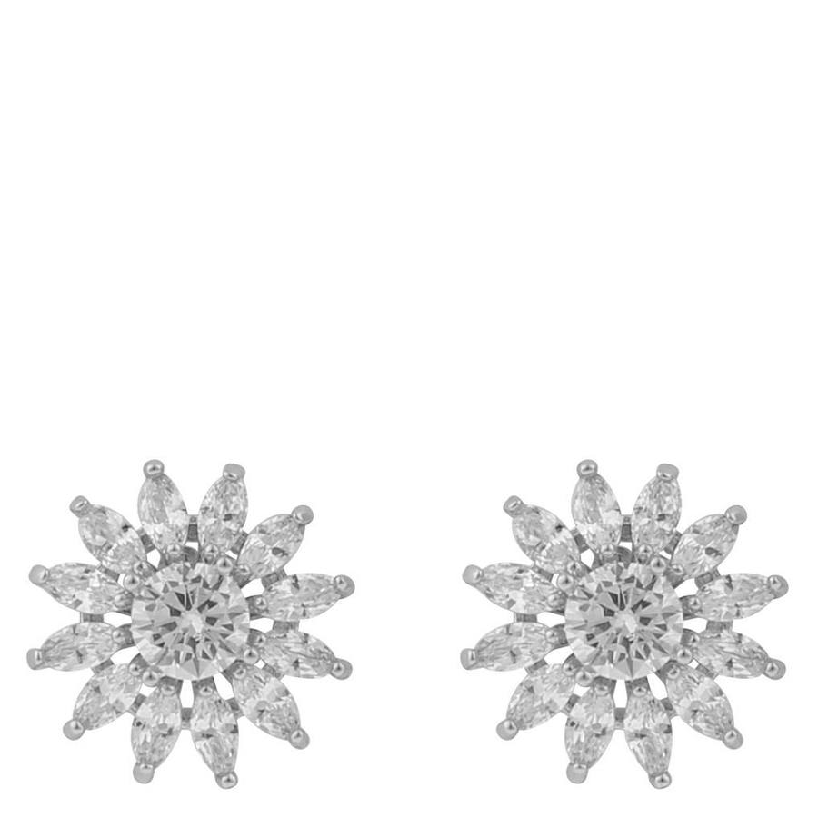 Snö Of Sweden Kathy Small Earring, Silver/Clear