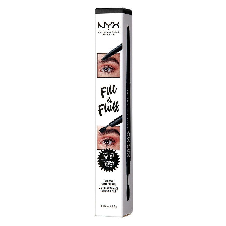 NYX Professional Makeup Fill & Fluff Eyebrow Pomade Pencil Black