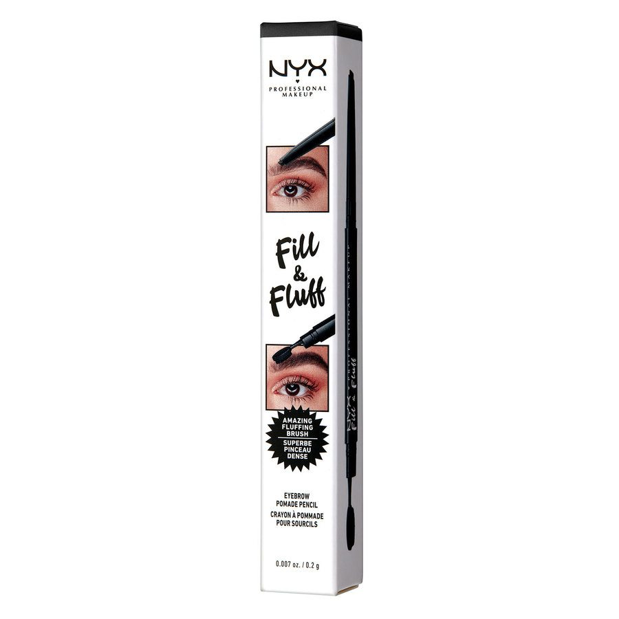 NYX Professional Makeup Fill & Fluff Eyebrow Pomade Pencil Black