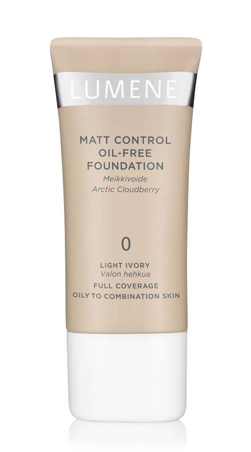 Lumene Matte Control Oil-Free Foundation (30 ml), 0 Light Ivory