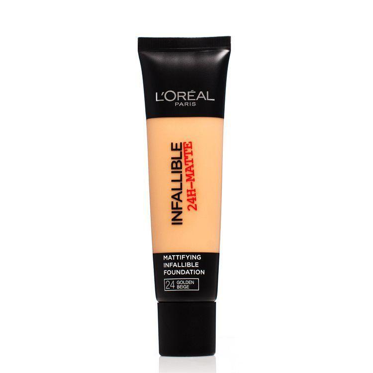 L'Oréal Paris Infallible 24H Matte Foundation (30 ml), #24 Golden Beige