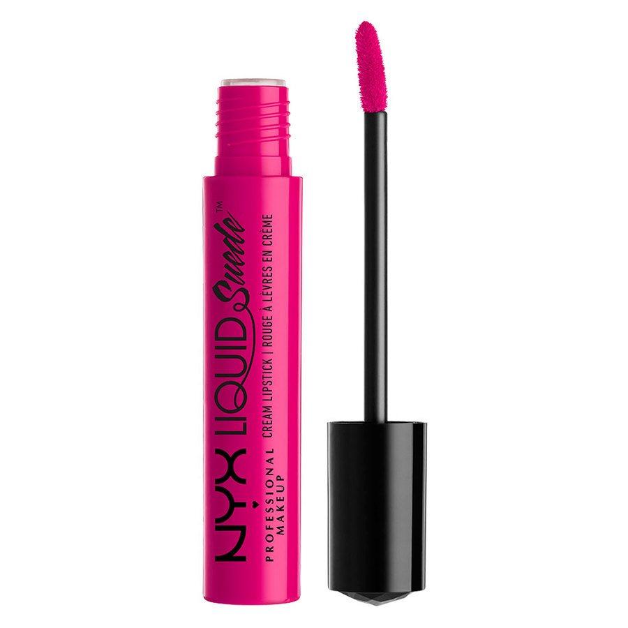 NYX Prof. Makeup Liquid Suede Cream Lipstick, Pink Lust