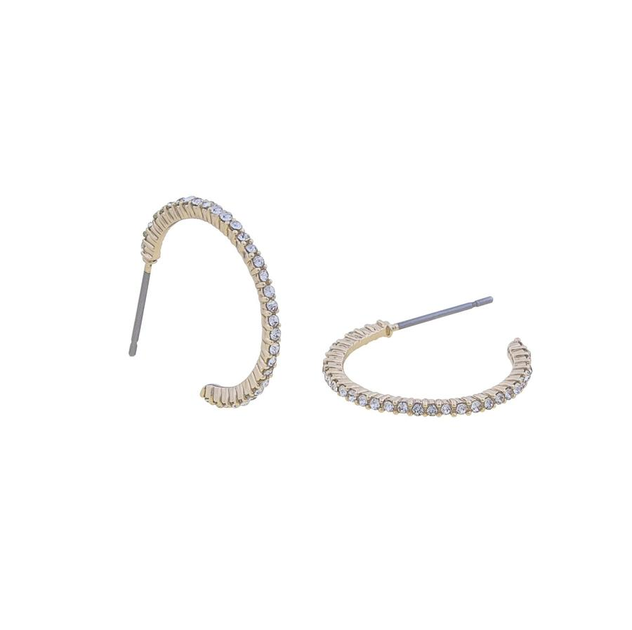 Snö Of Sweden Lily Oval Earring, Gold/Clear