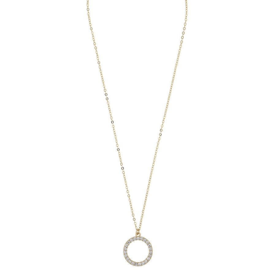 SNÖ of Sweden Josephine Pendant Neck Gold/Clear 42cm
