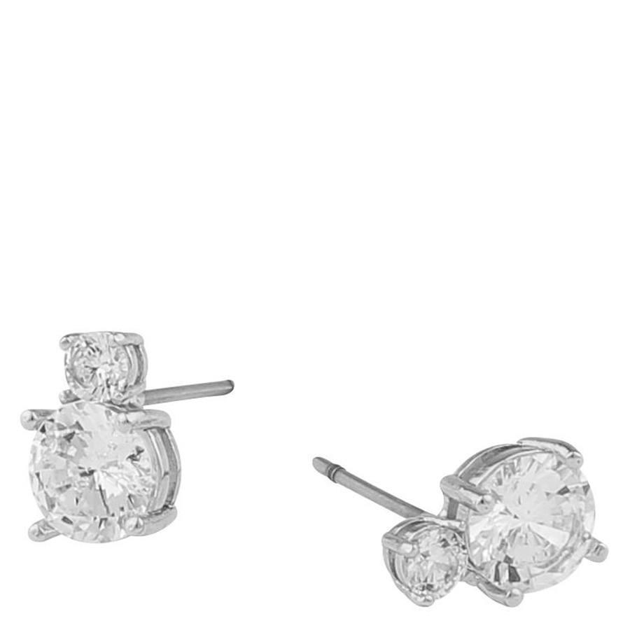Snö Of Sweden Duo Earring, Silver/Clear