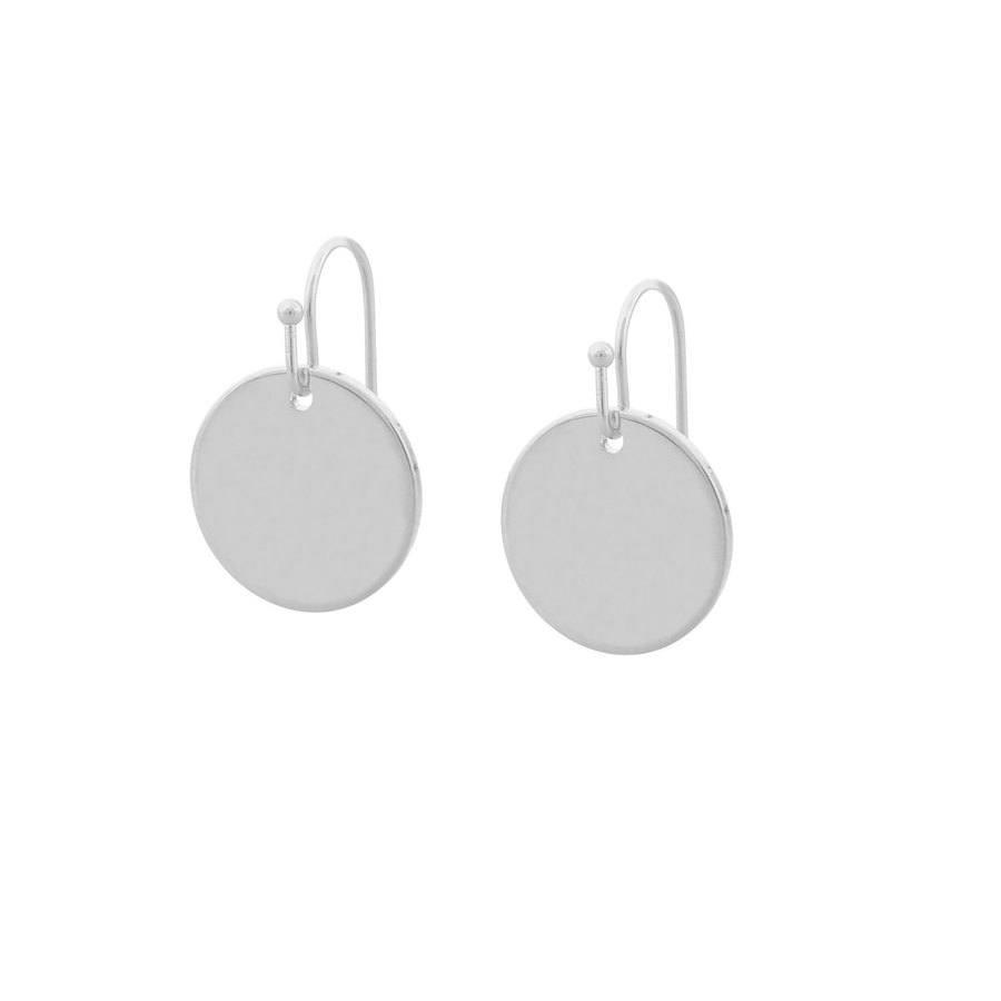 Snö of Sweden Emily Small Pendant Earring, Plain Silver